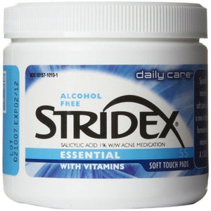 Stridex Triple Action Acne Pads With Salicylic Acid, Regular Strength Pads - 55 ea