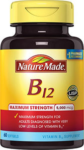 Nature Made Maximum Strength Vitamin B-12 5000 mcg Softgels - 60 ea