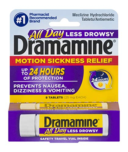 Dramamine Motion Sickness Relief Less Drowsey Formula - 8 Count