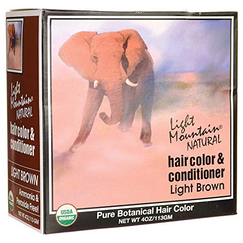 Light Mountain Natural - Hair Color & Conditioner Kit Light Brown - 4 oz.