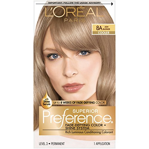 Loreal  Superior Preference Hair Color,8A Ash Blonde - 1 ea.