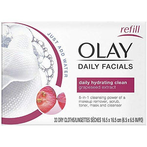 Olay 2-in-1 Daily Facial Cloths, Normal - 33 ea