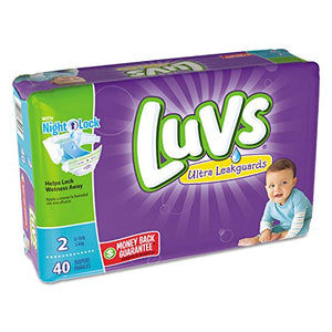 Luvs Ultra Leakguards Diapers Size 2 - 40 ea (Pack of 2)