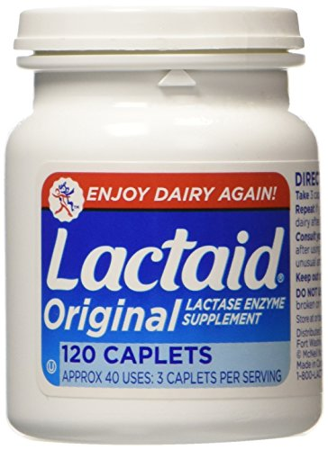Lactaid  Original Strength Lactase Enzyme Supplement, Caplets - 120 ea