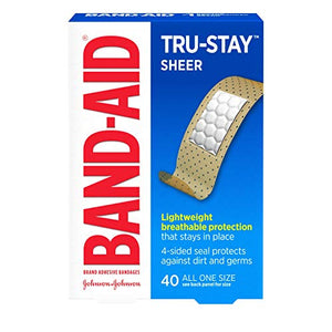 J & J Band - Aid Sheer Adhesive Bandages For Long Lasting Protection, One Size - 40 ea