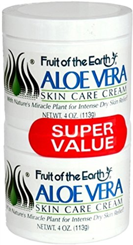 Fruit Of The Earth Aloe Vera Cream - 4 Oz Each X 2 Pieces