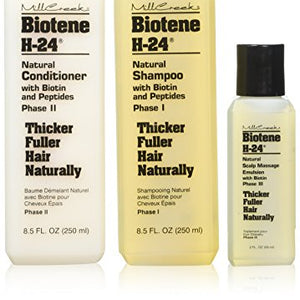 Mill Creek Biotene H-24 Tri-Pack Shampoo Conditioner Scalp Emulsion -- 1 Set