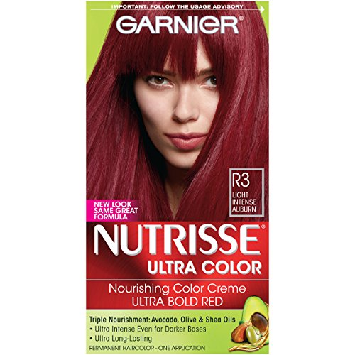 Garnier Nutrisse Ultra Hair Permanent Color, Light Intense Auburn R3 - 1 ea