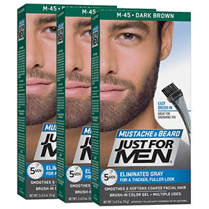 Just For Men Color Gel Mustache & Beard, Dark Brown M-45 - 1 ea.