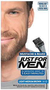 Just For Men Color Mustache & Beard, Light-Medium Brown M-30 - 1 ea.