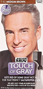 Just For Men Touch of Gray Hair, Medium Brown - Gray T35 - 1 ea.