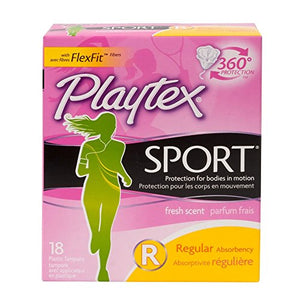 Playtex regular sport tampons, unscented - 18 ea