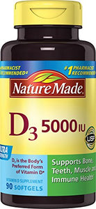 Nature Made Vitamin D3 5000 IU Liquid Softgels - 90 ea