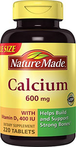 Nature Made Calcium 600 Plus D Tablets - 220 ea