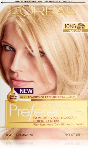 Loreal  Superior Preference Hair Color,#10Nb Ultimate Natural Blond - 1 ea.