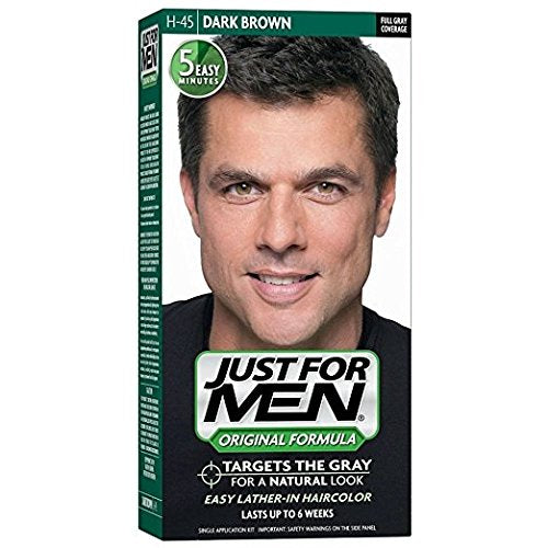 Just For Men Haircolor, Shampoo-In, Dark Brown H-45 - 1 ea