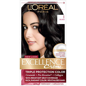 Loreal Excellence Hair Color Creme,1 Natural Black - 1 ea