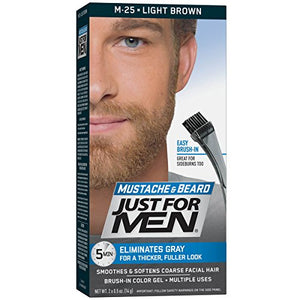 Just For Men Color Gel Mustache & Beard, Light Brown M-25 - 1 ea.