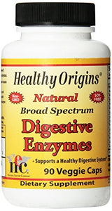 Healthy Origins - Natural Broad Spectrum Digestive Enzymes - 90 Vegetarian Capsules