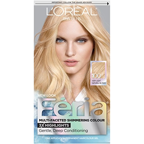 L'Oreal  Feria Permanent Haircolour Gel 3X Highlights, Very Light Natural Blonde 100 - 1 ea