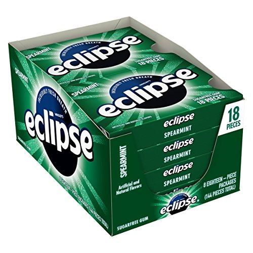 Wrigleys Eclipse sugar free gum, Spearmint 18 ea - 8 pack