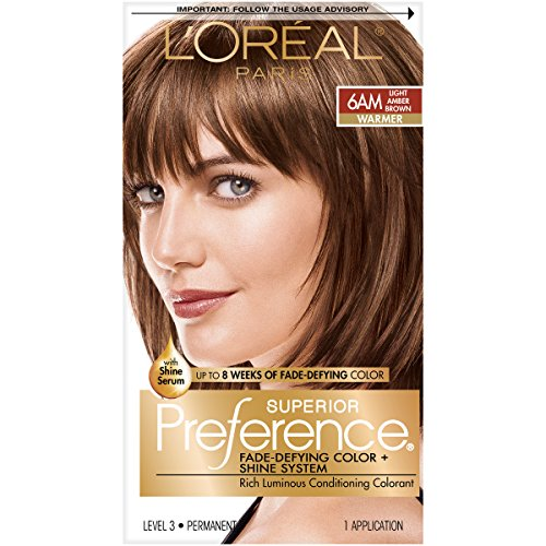 Loreal Preference Hair Color,Light Amber Brown 6AM - 1 ea.