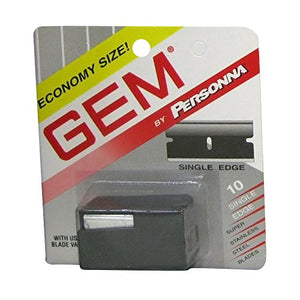 Gem Personna Stainless Steel Single Edge Razor Blades - 10 ea