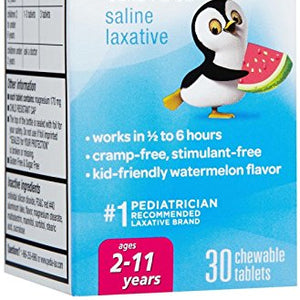 Fleet Pedia-Lax Saline Laxative Chewable Tablets, Watermelon - 30 ea