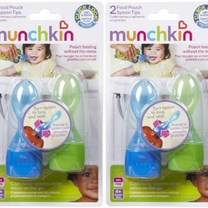 Munchkin Click Lock Food Pouch Spoon Tips - 2 ea.