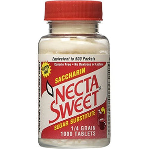 Necta Sweet Saccharin Sugar Substitute 0.25 Grain Tablets - 1000  ea