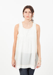 Babydoll Tank in White