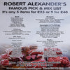 Robert Alexanders Famous Pick & Mix