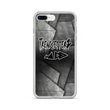 Grey Abstract iPhone Case