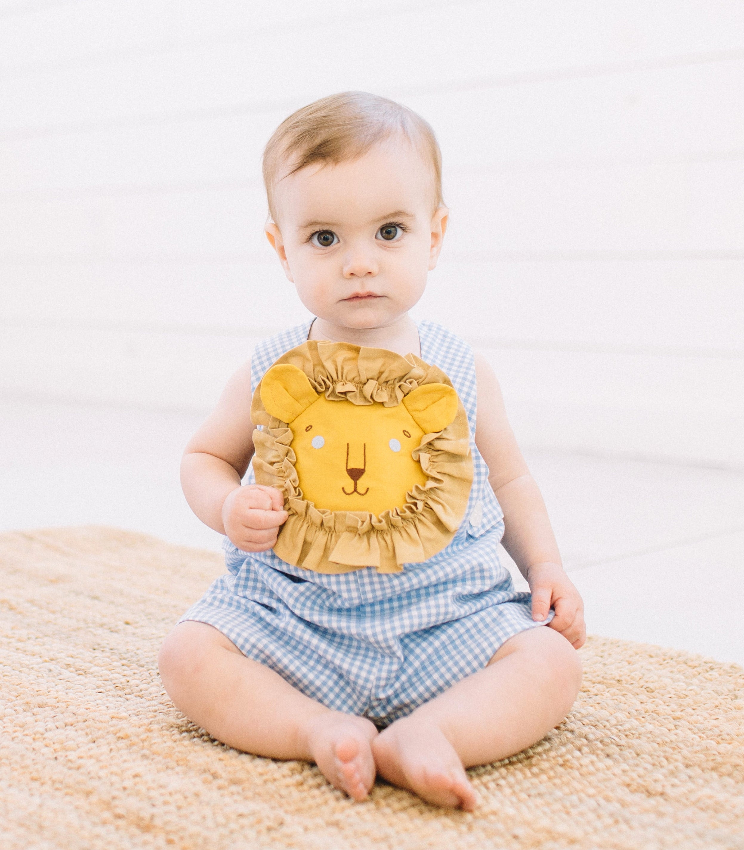 Little Goodall Bogs Lion Blue Cotton Romper
