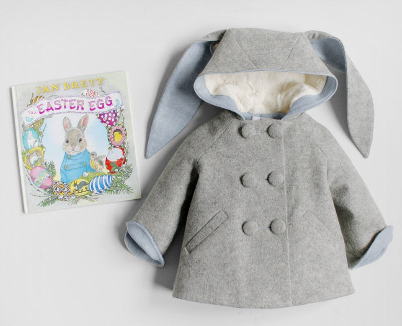 The Easter Egg by Jan Brett and Little Goodall Six Button Bunny Coat