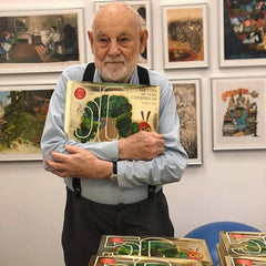Eric Carle with The Very Hungry Caterpillar 50th Anniversary Edition