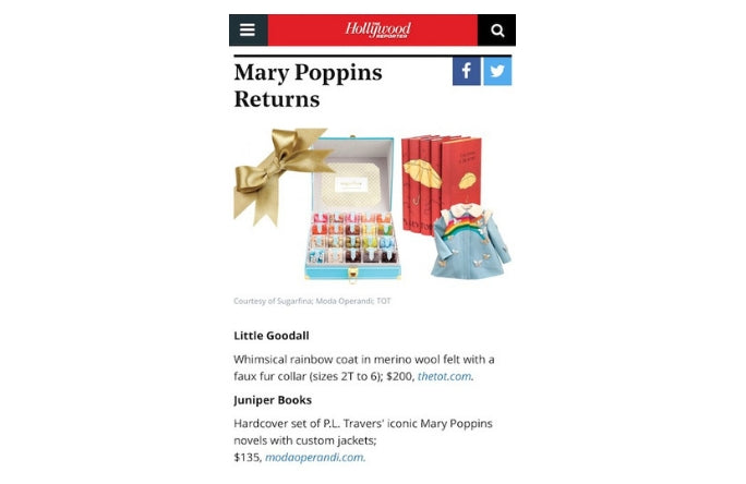 Little Goodall Childrenswear on Hollywood Reporter