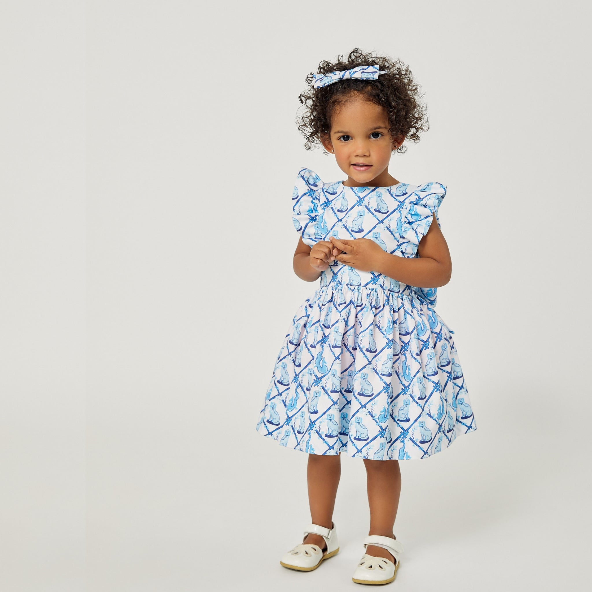 Aldrich and Madame De Bleu Dress: Little Goodall + Willa Heart Collection