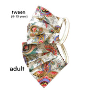 Adult & Tween Cotton Mask in Always Peachy Paisley Liberty London Print