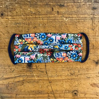 Cotton Mask in Antonia Tile and Floral Liberty London Print