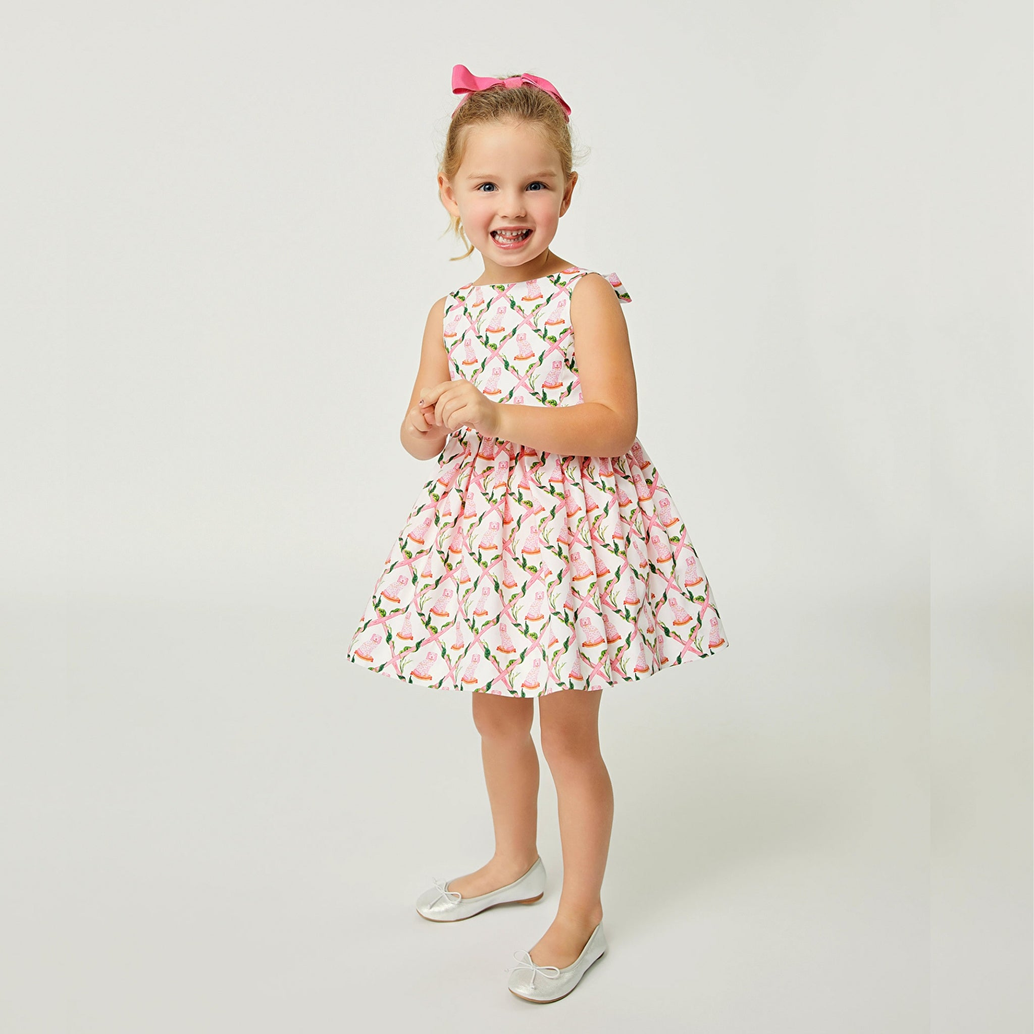 Little Goodall Willa Heart Girls Spring Summer Dress