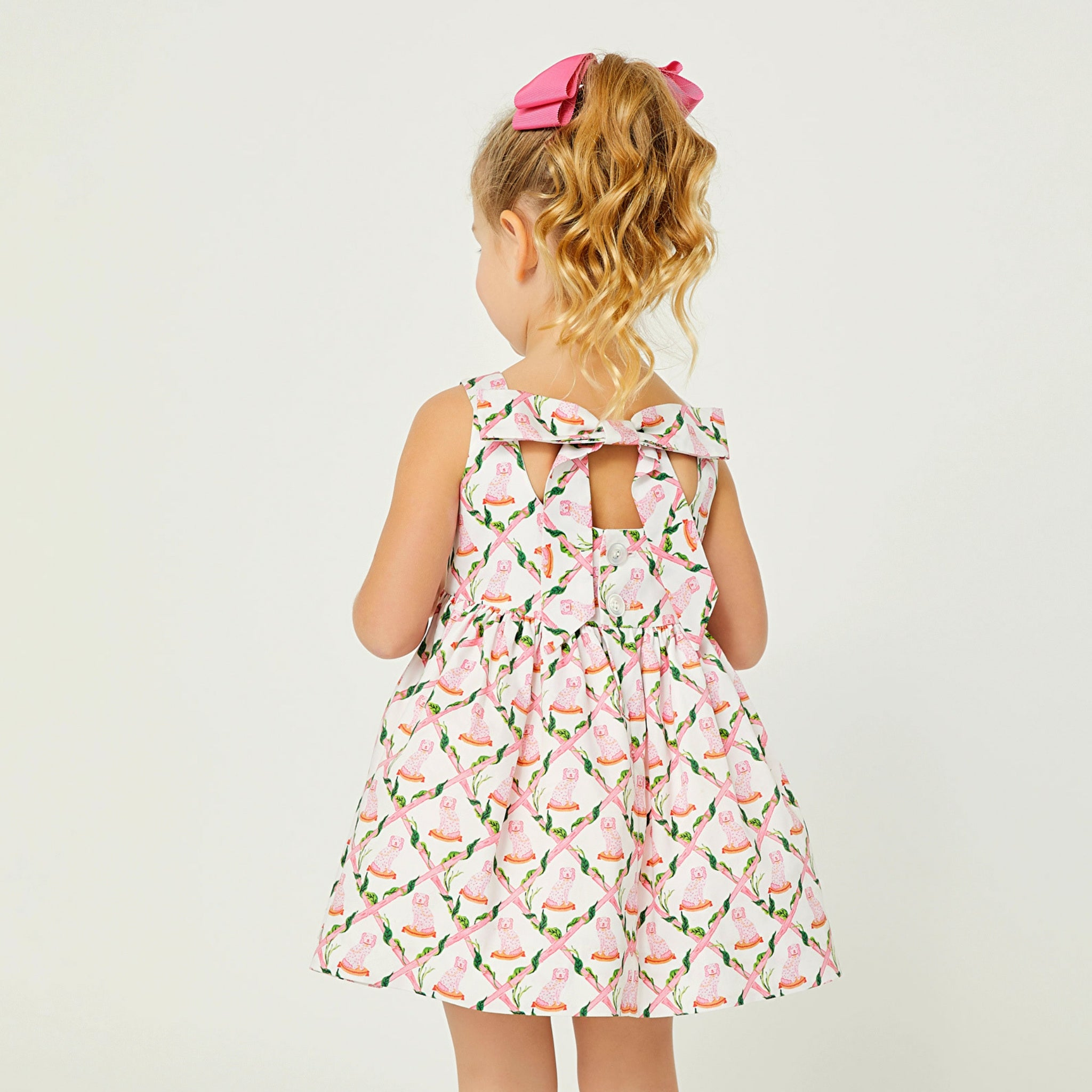 Little Goodall Willa Heart Girls Spring Bow Back Summer Dress