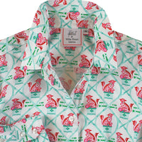 Carrot and Dot Print: Ladies Willa Heart Classic Shirt