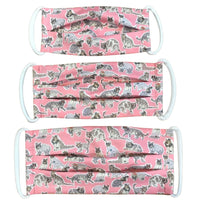 Cotton Mask in Cool Cats Pink Liberty London Print