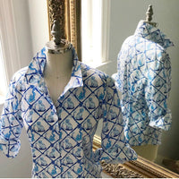 Aldrich and Madame De Bleu Print: Ladies Willa Heart Classic Shirt