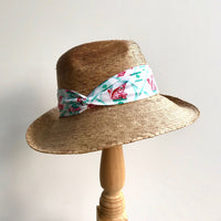 Ladies Tailored Market Hat in choice of Willa Heart Prints