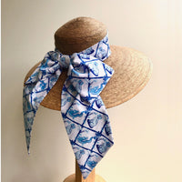 Ladies Wide Brim Cabana Hat in choice of Willa Heart Prints