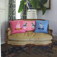 Madame De Bleu Single Dog Decorative Pillow - Willa Heart Collection