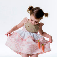 Pink Gingham Bunny Love Dress