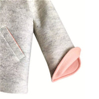 Six Button Bunny Coat in Barely Pink